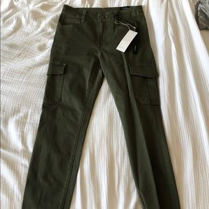 Vince Army Green High Rise Pants